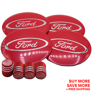 Ford Wheel Cap Hub Sticker Decal 2 20 Tire Valve Stem Caps Bundle Deal