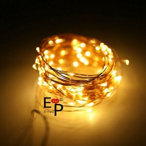 Led String Fairy Lights Copper Wire Battery Powered Waterproof 20 50 100 Led