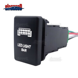 Led Light Bar Push Button Switch W Wiring Kit For Toyota Tacoma Yaris Sequoia