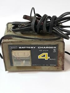 Vintage Sears Battery Charger 6 12 Volt Dc 4 Amp 608 71823 Not Tested