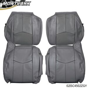 4pcs Left Right For 03 07 Chevy Tahoe Silverado gmc Leather Seat Cover Kit