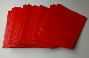 2 Pocket Red Paper Folders With Prongs And 2 Business Card Holders Inside 41