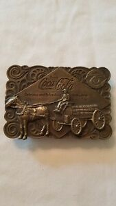 Vintage Belt Buckle Coke Coca Cola 75th Anniversary Bottle Opener 1976 Bergamot