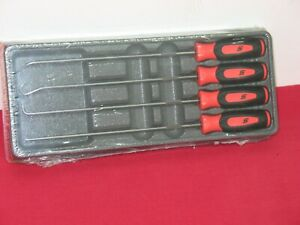 Snap On Tools Orange 4 Pc Instinct Extra Long Mini Pick Set In Sealed Tray