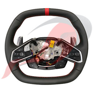 2020 C8 Corvette Heated Leather Steering Wheel Adrenaline Red Stitching