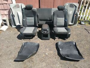 99 07 Ford F250 F350 Front Seat Console Black Cloth Manual Oem