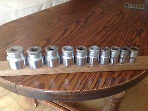 10 Gedore Sockets 3 4 To 3 16 Whitworth With 1 2 Drive