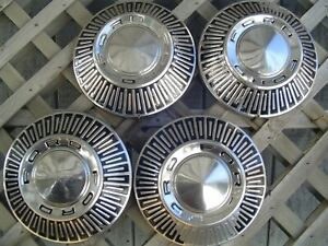 4 Vintage Ford Galaxie Fairlane Police Truck Hubcaps Wheel Covers Center Caps