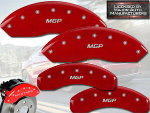 2015 2020 Ford Mustang V6 Front Rear Red Mgp Brake Disc Caliper Covers 4pc