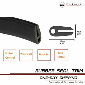15fts Rubber Seal Strip Trim Black Door Weather Strip Car Parts Waterproof Guard