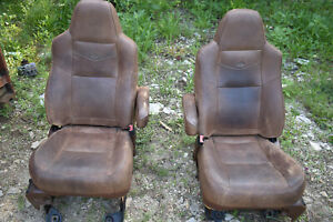 2004 2005 2006 2007 Ford F250 F350 King Ranch Front Row Seats Leather Heated Pow