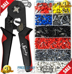 1800pcs Wire Ferrules Wire Ends Terminals Crimping Tool Kit Sopoby Crimper Plier