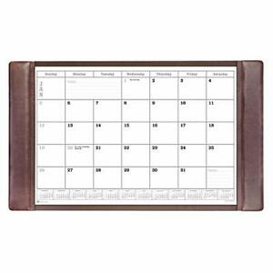 Dacasso P3450 Leather Calendar Desk Pad 34 X 20 X 0 5 Chocolate Brown