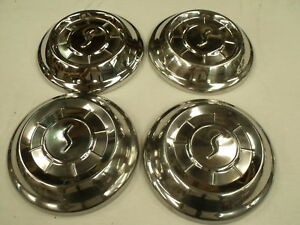 Vintage Set Of 4 Studebaker 1958 1961 10 Center Caps Hubcaps Wheelcovers