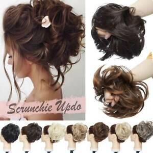Natural Large Tousled Messy Bun Hair Piece Scrunchie Pony Tail Hair Extensions $7.51