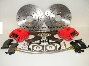 Wilwood Gm 10 12 Bolt Rear Disc Brake Conversion Kit Drilled Slotted Rotors