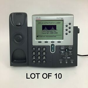 Lot Of 10 Cisco 7960 Voip Office Business Ip Phone Cp 7960g