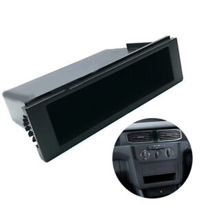 Universal Car Double 1 Din Dash Cup Holder Storage Box Plastic For Stereo Radio