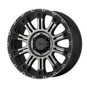 4 New 20x9 Xd Hoss 2 Satin Black Machined W Gray Tint Wheel rim 8x180 Et18