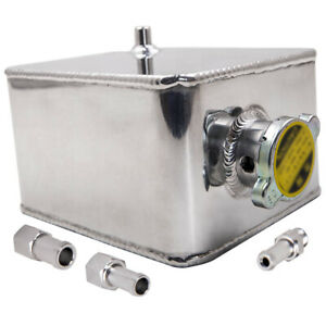 2 5l Polished Universal Aluminum Coolant Radiator Overflow Water Tank