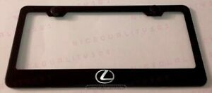 Lexus F Sport Stainless Steel Black Finished License Plate Frame Rust Free