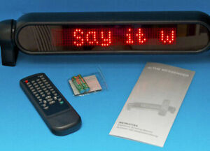 Electronic Red L e d Moving Message Sign Remote Control For Your Business
