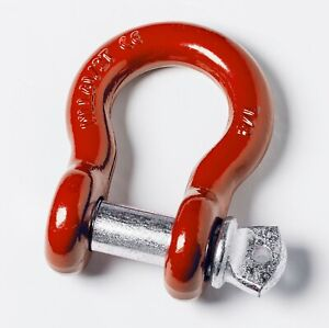 Red 7 8 6 5t Clevis Screw Pin Anchor Bow Shackle D ring Nickel Pin 14000 Lbs