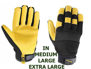 Wells Lamont Men s Hydrahyde Leather Work Gloves One Pair Size M L Xl New