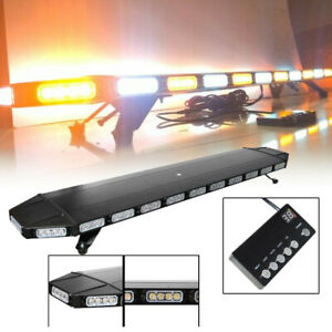 47 104led Emergency Warning Strobe Visor Mount Roof Dash Light Bar Amber White