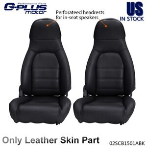 Front Pair Leather Seat Covers For 1990 1991 1992 1993 1994 95 1996 Mazda Miata