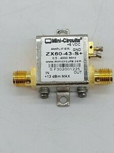 Mini circuits Zx60 43 s Amplifier 0 5 4000 Mhz 50 Sma