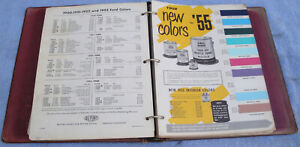 Original Book Of Paint Color Chips For 1954 1955 American Cars Dupont Paints