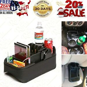 Car Console Universal Truck Van Drink Holder Auto Seat Floor Storage Organizer