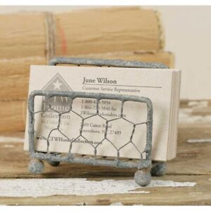 Chicken Wire Business Card Holder Home Office Rustic Gift Idea