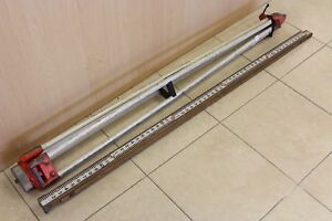 David White Contractor Surveyor Transit Tripod And Measuring Stick