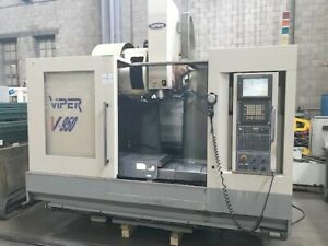 Mighty Viper Cnc Vertical Mill 40 X 20 Cnc Machining Center Fanuc 18i Cnc 2004