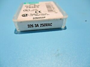 New Pack Of 5 Littelfuse 326 3a 250 Vac Fuse 326003p