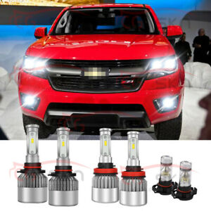 For Chevrolet Colorado 2015 2019 Led Headlight Bulbs Hi lo Beam fog Lights Combo