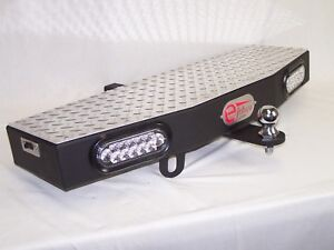 36 Wide 2 Receiver Hitch Step Towing Extension With 2 6 Leds