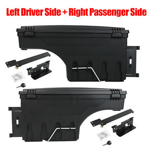 2x Lockable Storage Truck Bed Tool Box Left Right For Dodge Ram 1500 2500 3500
