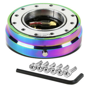 Universal Jdm 1 6 Hole Bolt Steering Wheel Quick Release Hub Adapter Neo Chrome