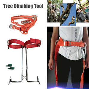 Tree Climbing Tool Pole Climbing Spike Hook Non slip Climbing Tree Shoes Belt