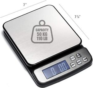 110 Lb 50 Kg Digital Postal Scale Piece Counting Stainless Steel Platform