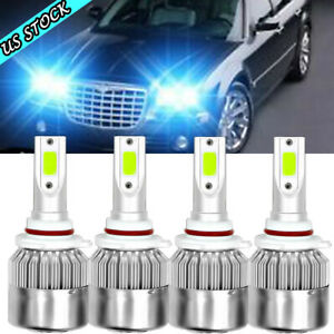 For Chrysler 300c 2005 2009 Ice Blue 8000k Led Headlight High Low Bulbs Combo 4x