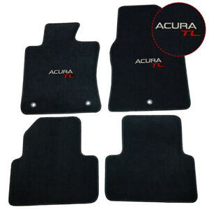 For 09 14 Acura Tl Floor Mats Carpet Front Rear Nylon Black W Acura Tl