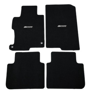 For 13 17 Honda Accord 4dr 2dr Floor Mats Front Rear Nylon Black Carpet W Spoon