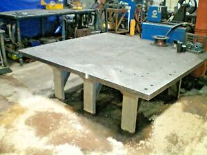 Extra Heavy Duty 2 Thick Top Steel Fabrication Table 75 X 70