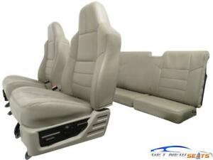 Ford Super Duty Stone Leather Seats Supercab 1999 2008 2009 2010 F250 F350