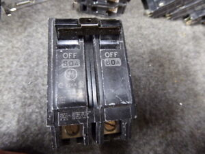 Ge Thhqb2180 General Electric Circuit Breaker 80a 2 Pole
