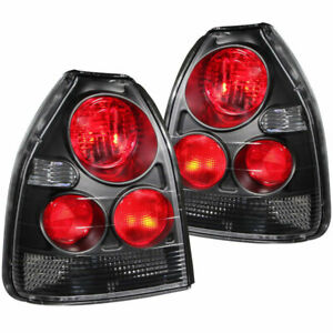 Anzo Usa Euro Taillights Black For Honda Civic 3 Door 1996 2000